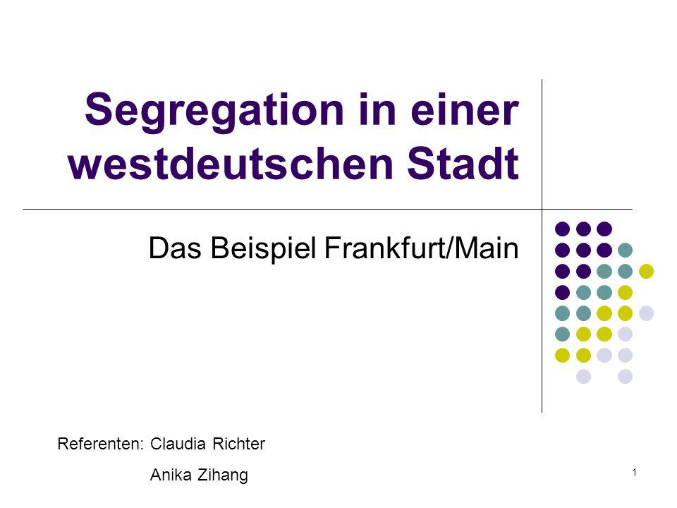 Segregation in einer westdeutschen Stadt