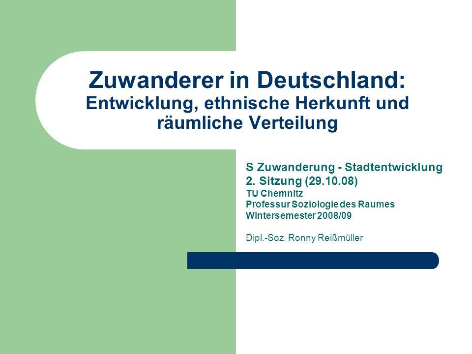 Zuwanderer in Deutschland: Entwicklung, ethnische Herkunft und räumliche Verteilung