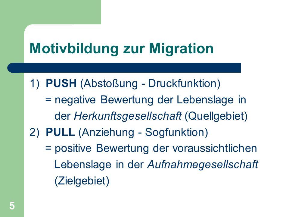 Motivbildung zur Migration