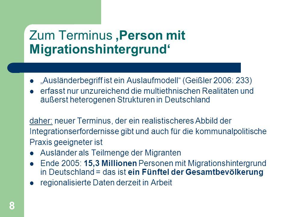 Zum Terminus 'Person mit Migrationshintergrund'