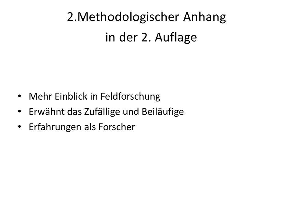 2.Methodologischer Anhang in der 2. Auflage