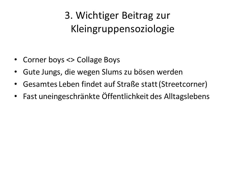 3. Wichtiger Beitrag zur Kleingruppensoziologie