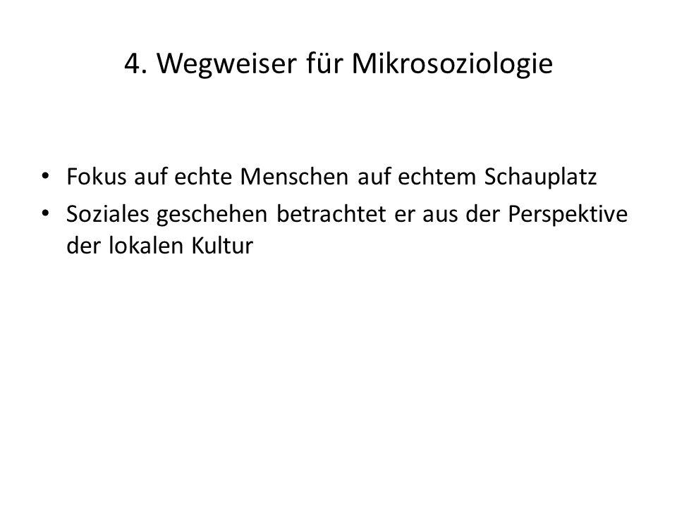 4. Wegweiser für Mikrosoziologie