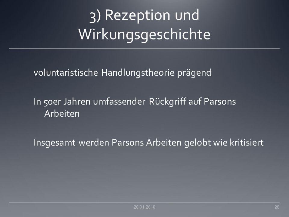 3) Rezeption und Wirkungsgeschichte