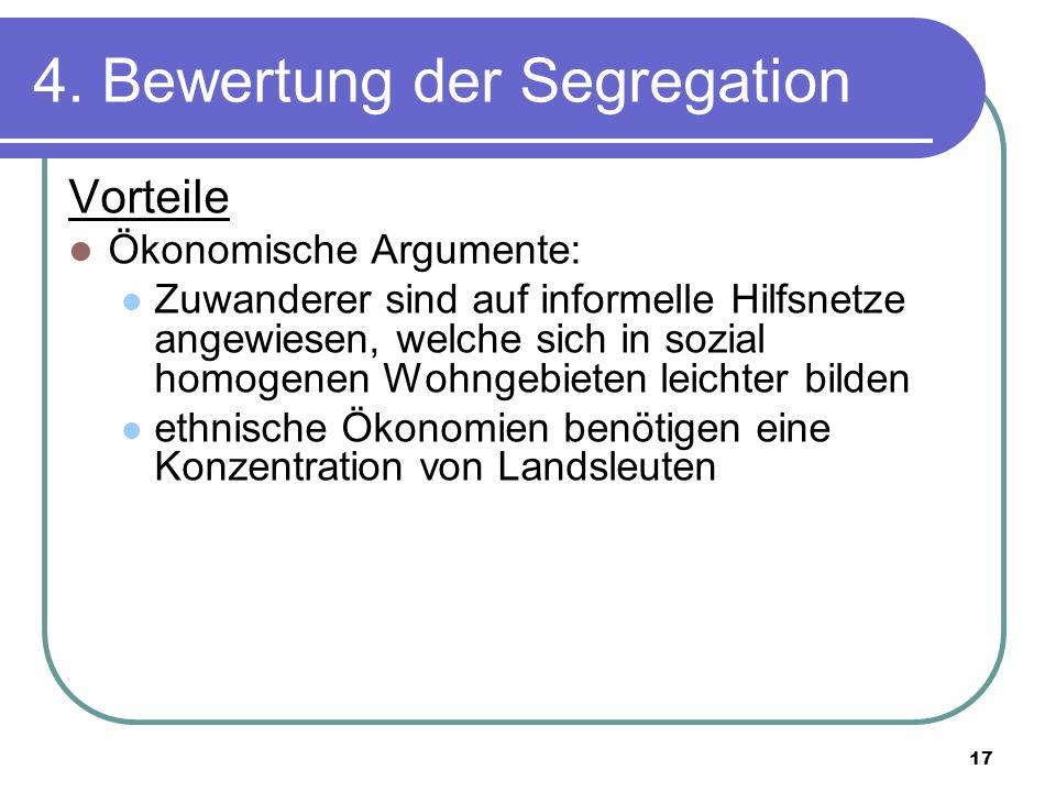 4. Bewertung der Segregation