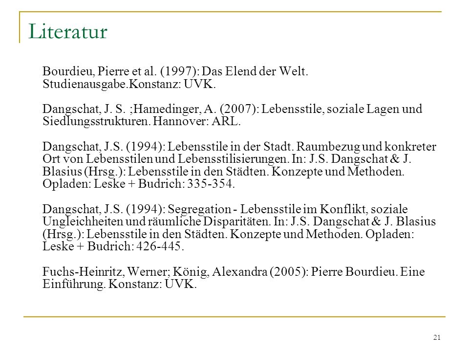 Literatur Studienausgabe.Konstanz: UVK.
