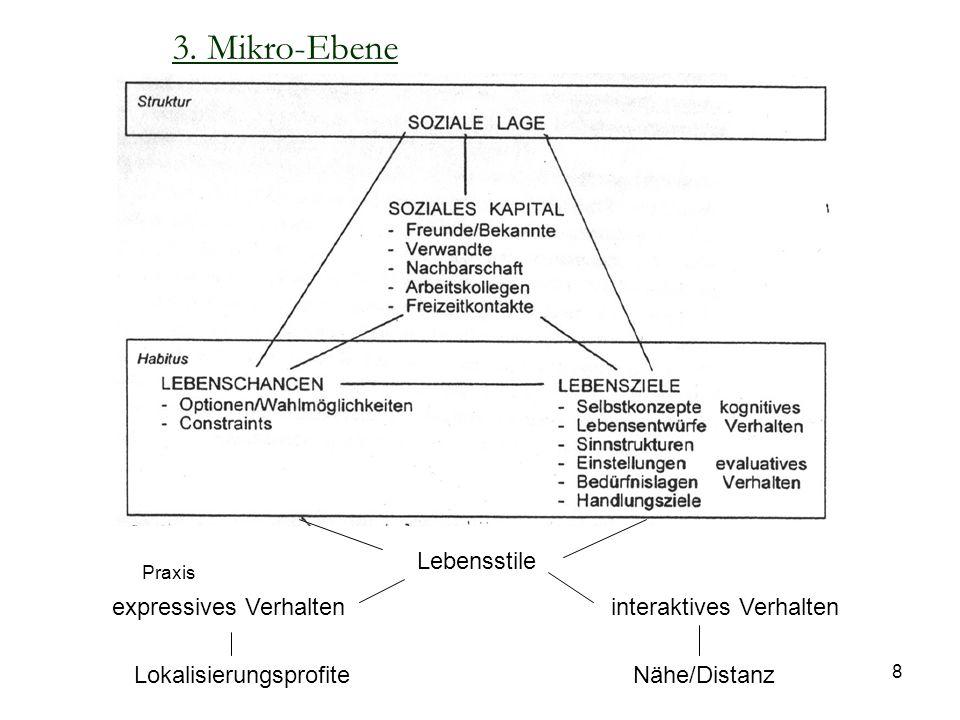 3. Mikro-Ebene Lebensstile expressives Verhalten