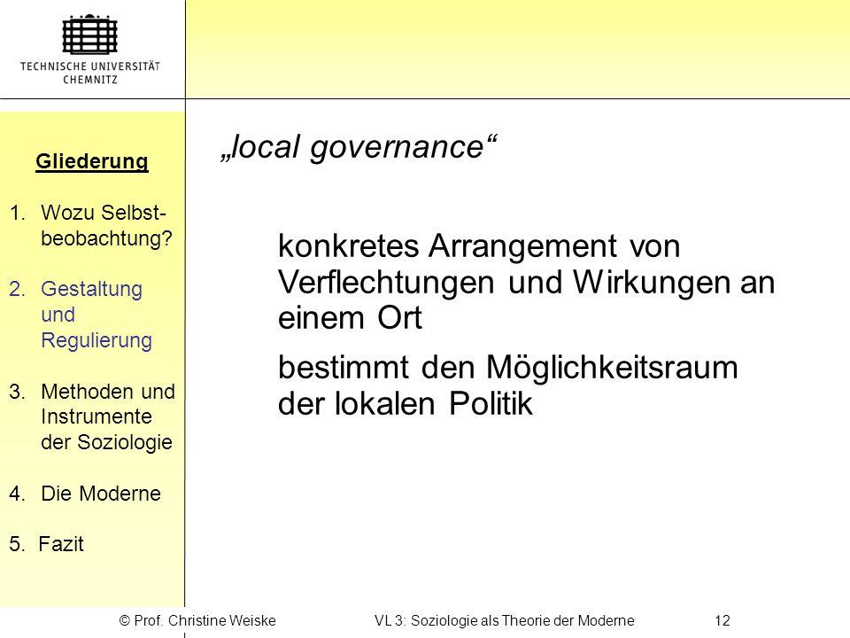 © Prof. Christine Weiske VL 3: Soziologie als Theorie der Moderne 12
