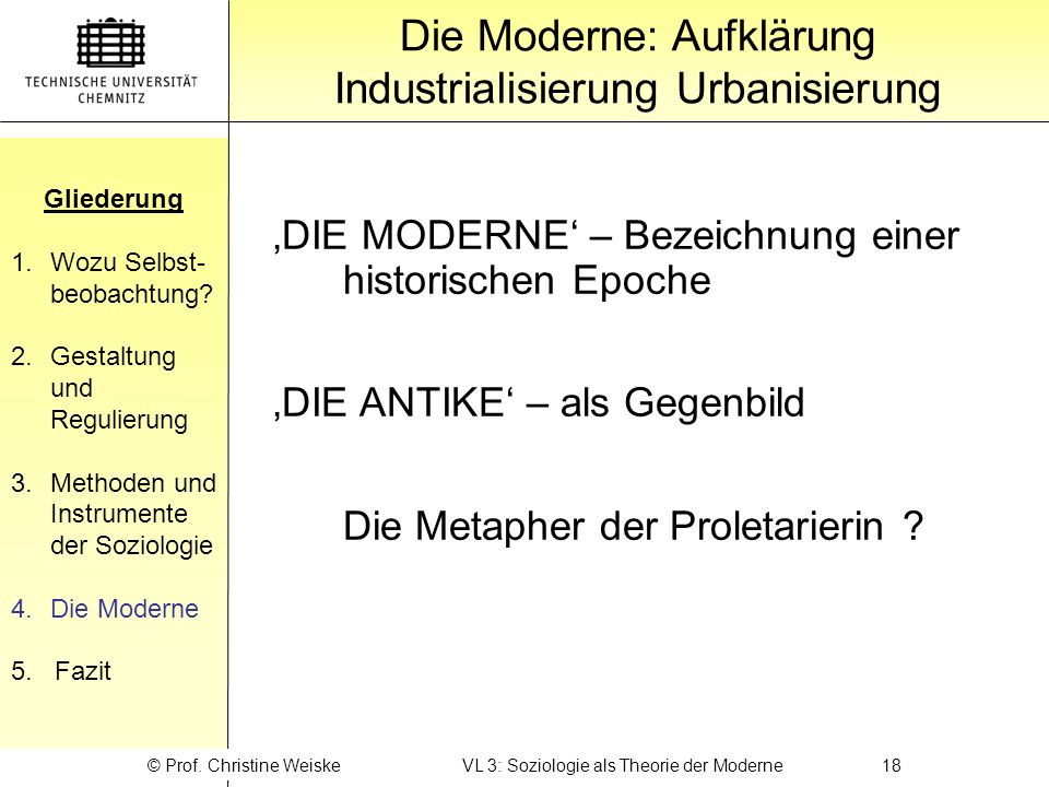 Die Moderne: Aufklärung Industrialisierung Urbanisierung