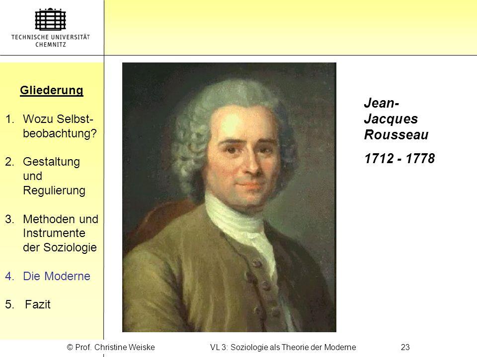 © Prof. Christine Weiske VL 3: Soziologie als Theorie der Moderne 23