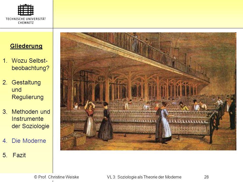 © Prof. Christine Weiske VL 3: Soziologie als Theorie der Moderne 28