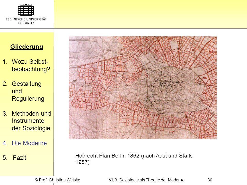 © Prof. Christine Weiske VL 3: Soziologie als Theorie der Moderne 30