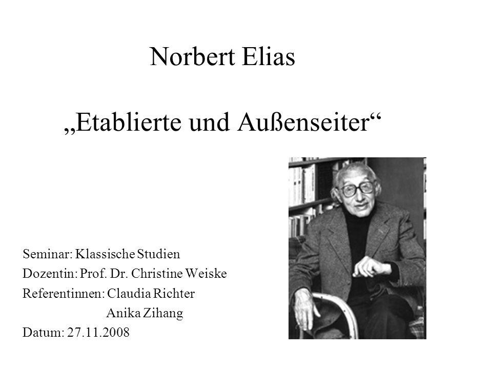 """Norbert Elias """"Etablierte und Außenseiter"""