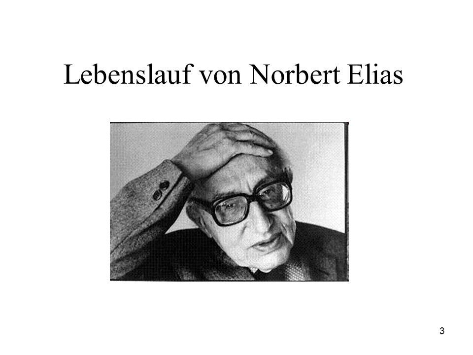 Lebenslauf von Norbert Elias