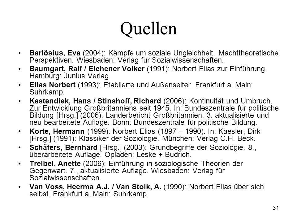 Quellen Barlösius, Eva (2004): Kämpfe um soziale Ungleichheit. Machttheoretische Perspektiven. Wiesbaden: Verlag für Sozialwissenschaften.