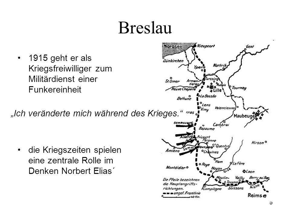 Breslau 1915 geht er als Kriegsfreiwilliger zum Militärdienst einer Funkereinheit.