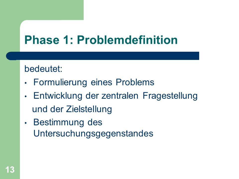 Phase 1: Problemdefinition
