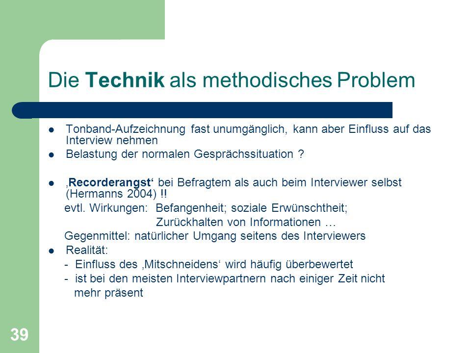 Die Technik als methodisches Problem