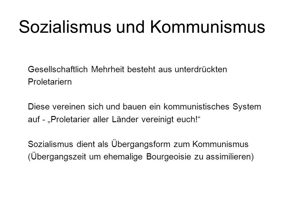 Sozialismus und Kommunismus