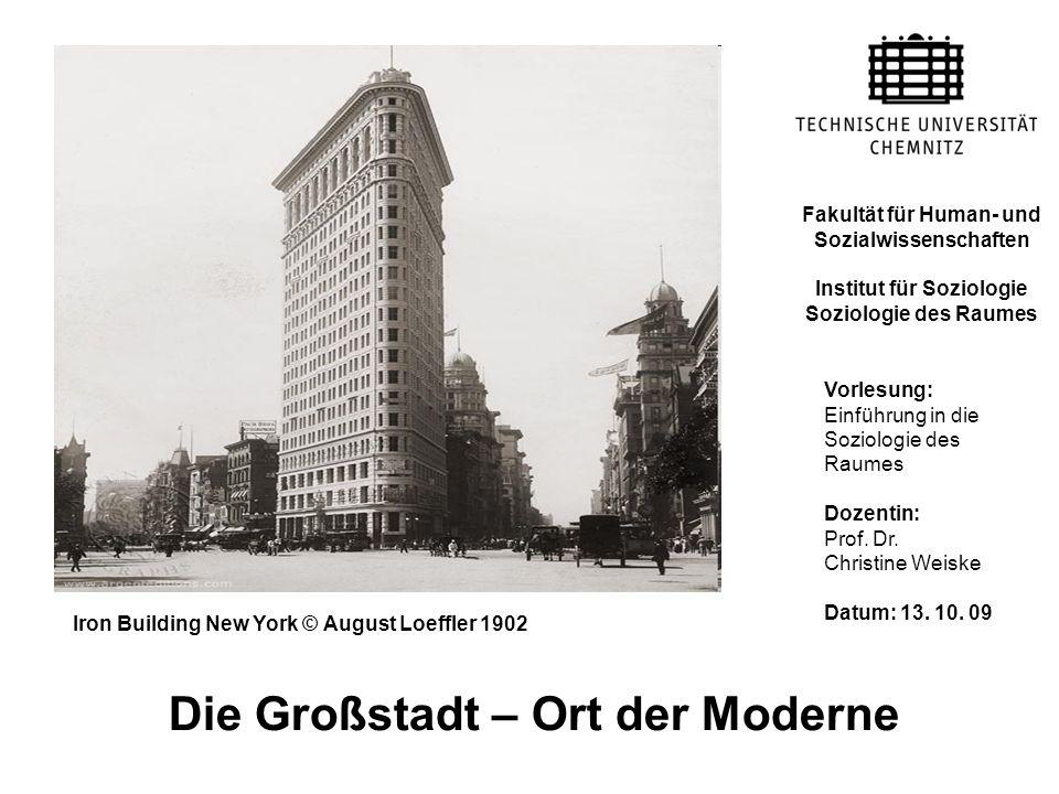 Die Großstadt – Ort der Moderne