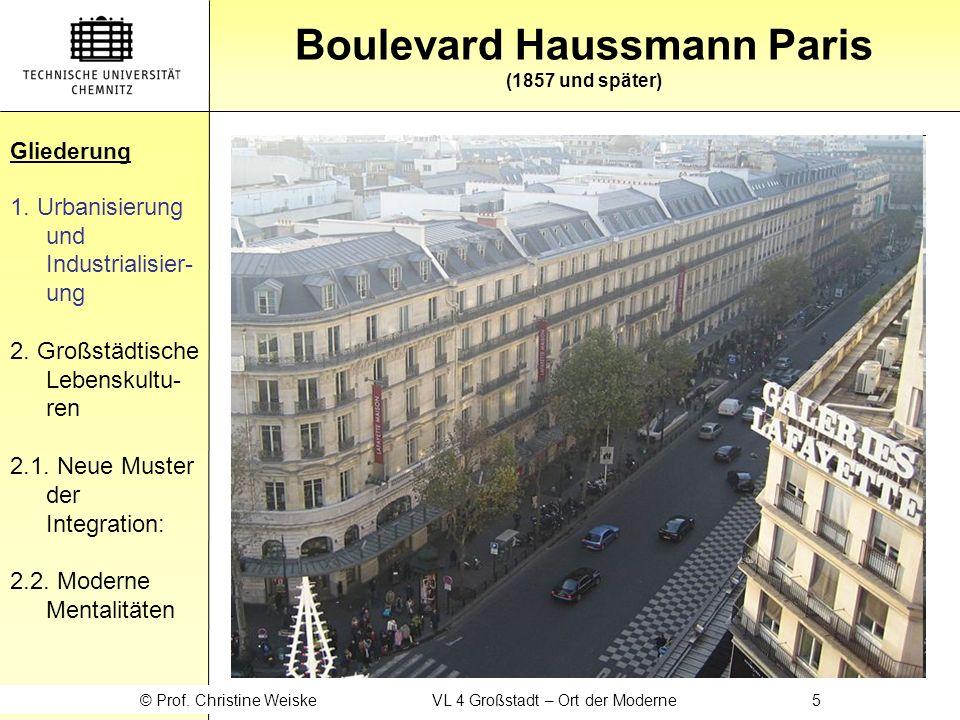 Boulevard Haussmann Paris (1857 und später)