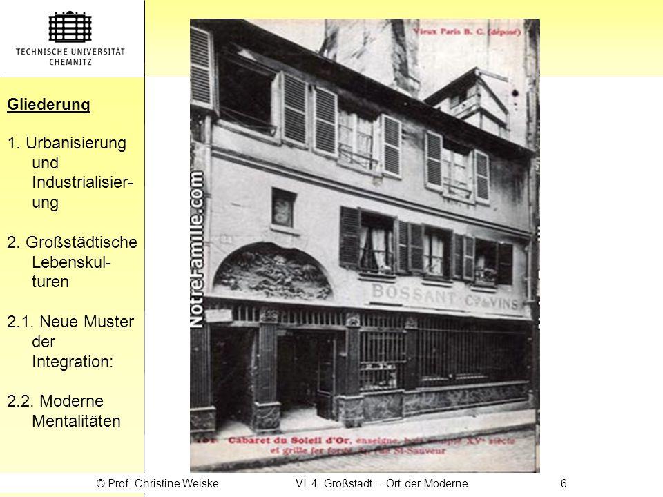 © Prof. Christine Weiske VL 4 Großstadt - Ort der Moderne 6