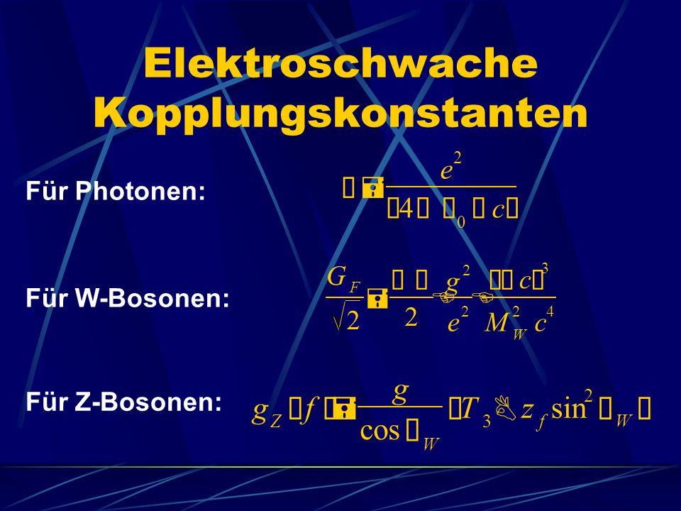 Elektroschwache Kopplungskonstanten