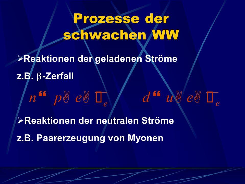 Prozesse der schwachen WW