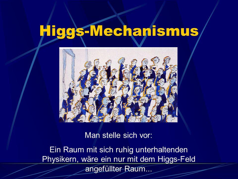 Higgs-Mechanismus Man stelle sich vor: