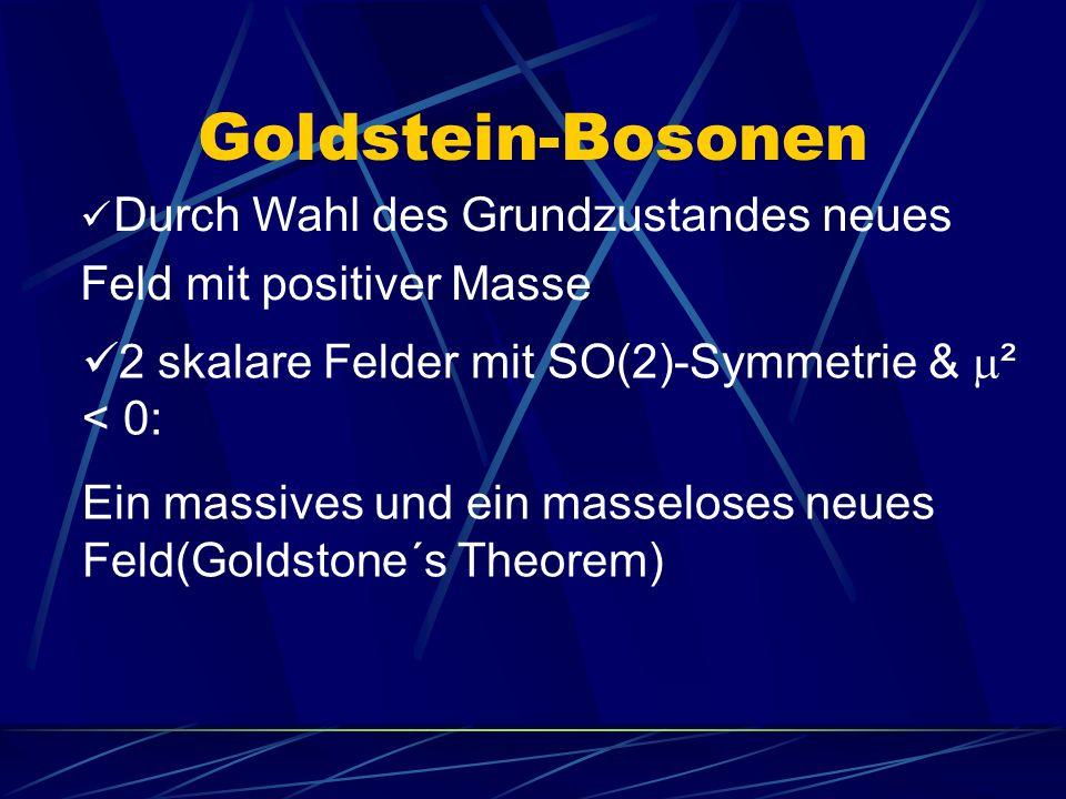 Goldstein-Bosonen Durch Wahl des Grundzustandes neues