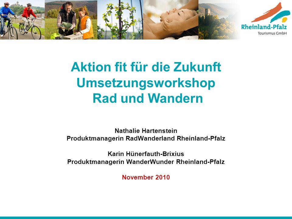 Aktion fit für die Zukunft Umsetzungsworkshop Rad und Wandern