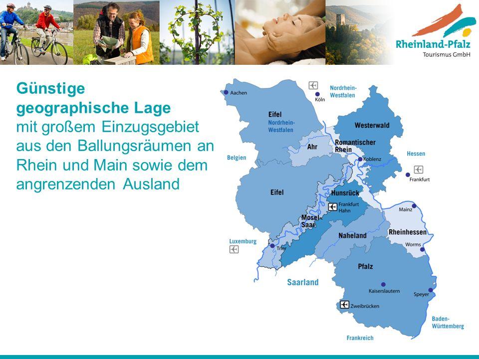 Günstige geographische Lage mit großem Einzugsgebiet aus den Ballungsräumen an Rhein und Main sowie dem angrenzenden Ausland