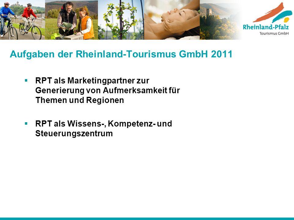 Aufgaben der Rheinland-Tourismus GmbH 2011