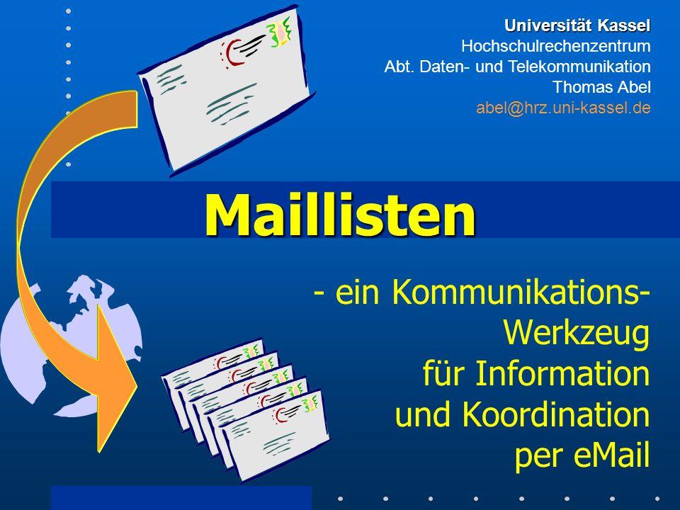 Universität Kassel Hochschulrechenzentrum Abt