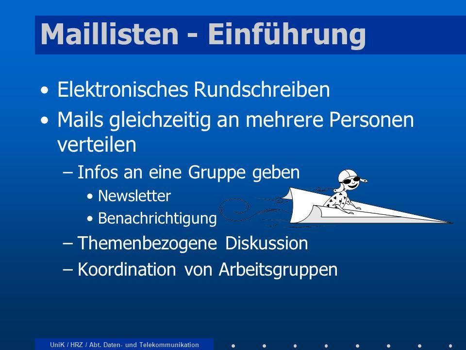 Maillisten - Einführung
