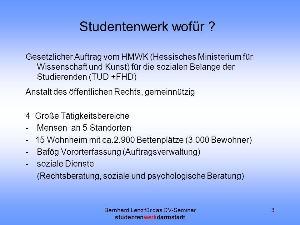 Bernhard Lenz für das DV-Seminar studentenwerkdarmstadt