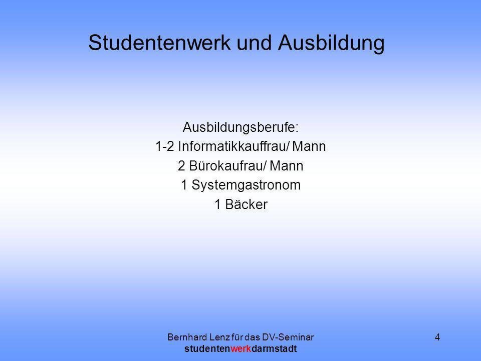 Studentenwerk und Ausbildung