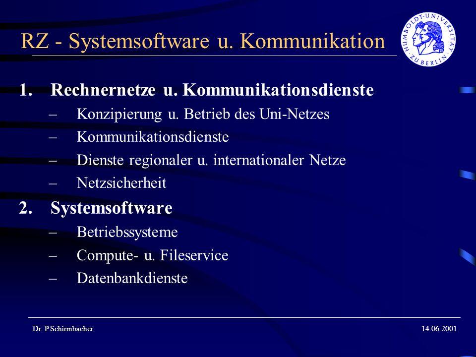 RZ - Systemsoftware u. Kommunikation