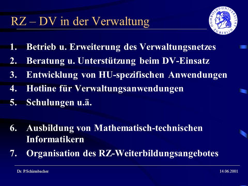 RZ – DV in der Verwaltung