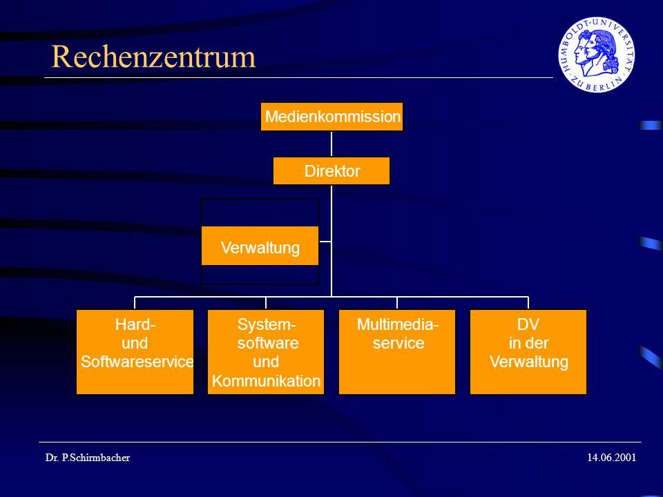Rechenzentrum Medienkommission Direktor Verwaltung Hard- System-