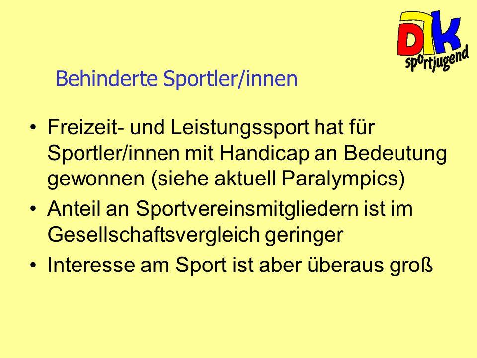 Behinderte Sportler/innen