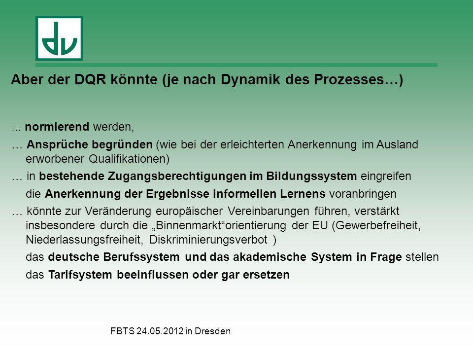 Aber der DQR könnte (je nach Dynamik des Prozesses…)