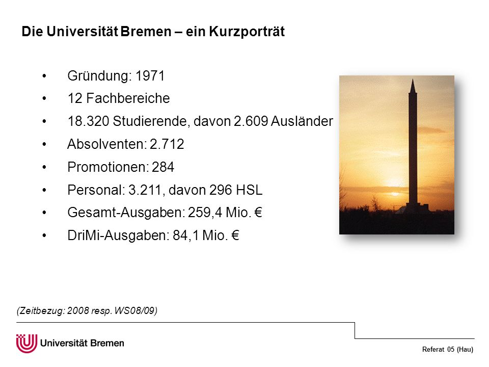 Die Universität Bremen – ein Kurzporträt
