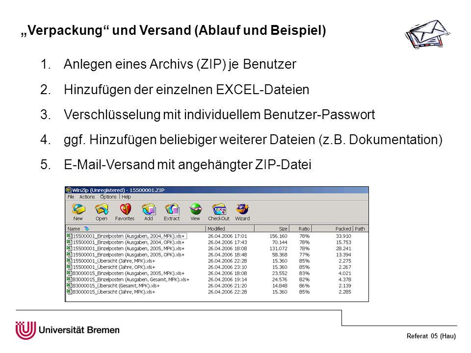 """""""Verpackung und Versand (Ablauf und Beispiel)"""