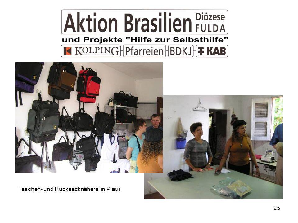 Taschen- und Rucksacknäherei in Piaui
