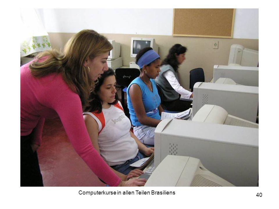 Computerkurse in allen Teilen Brasiliens