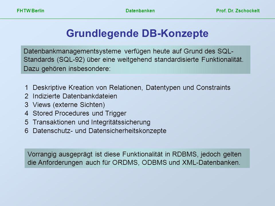 Grundlegende DB-Konzepte