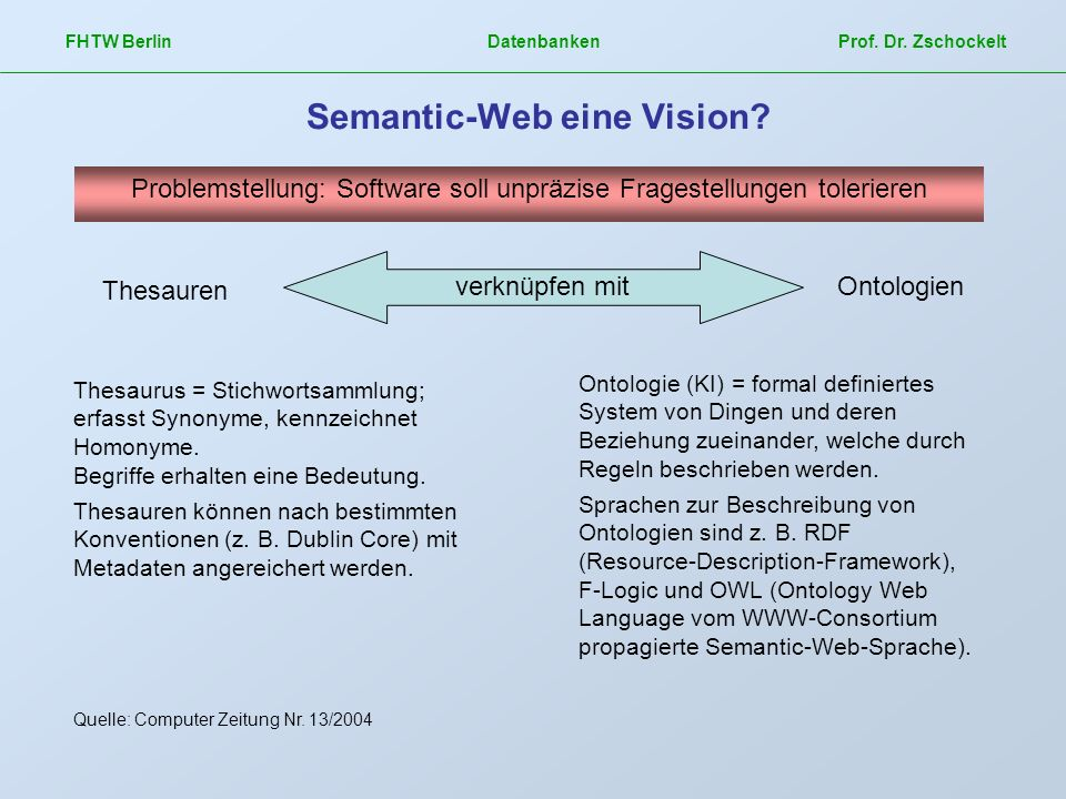 Semantic-Web eine Vision