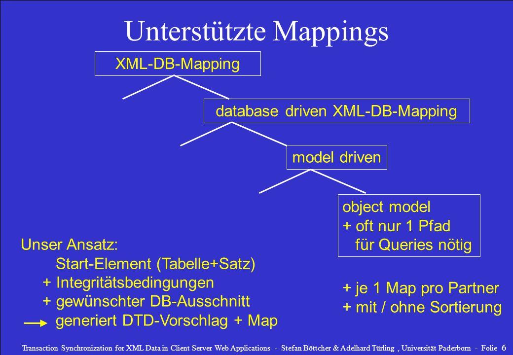 Unterstützte Mappings
