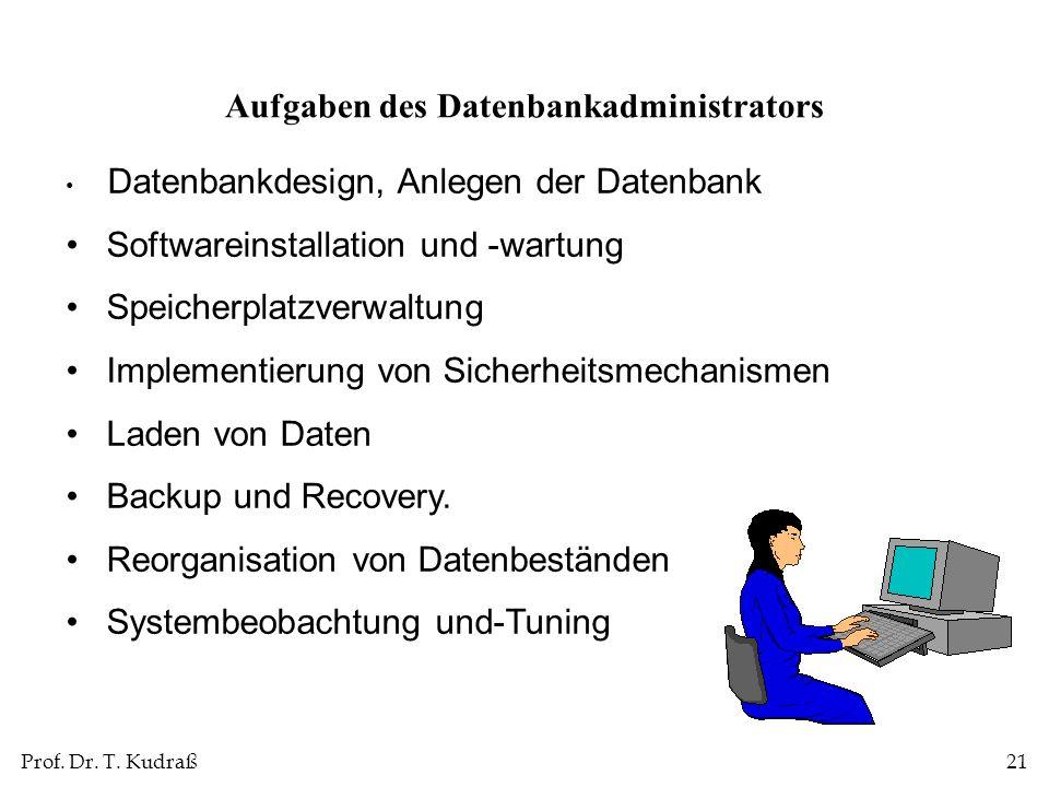 Aufgaben des Datenbankadministrators